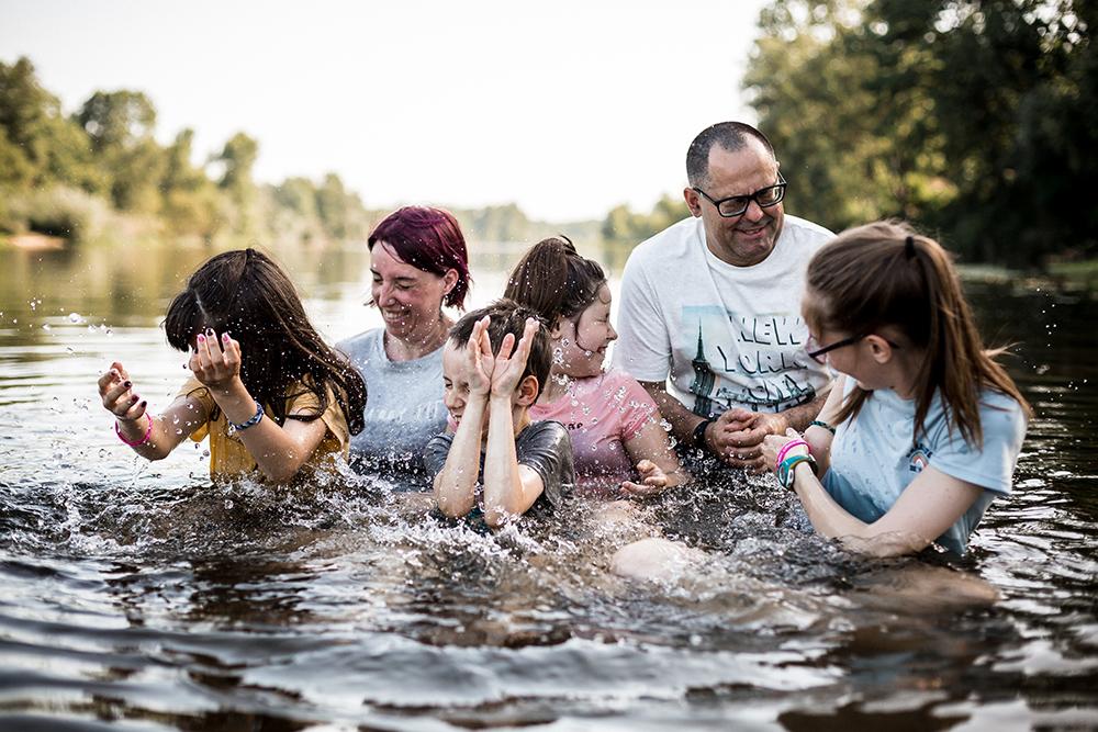 En famille au bord de Loire