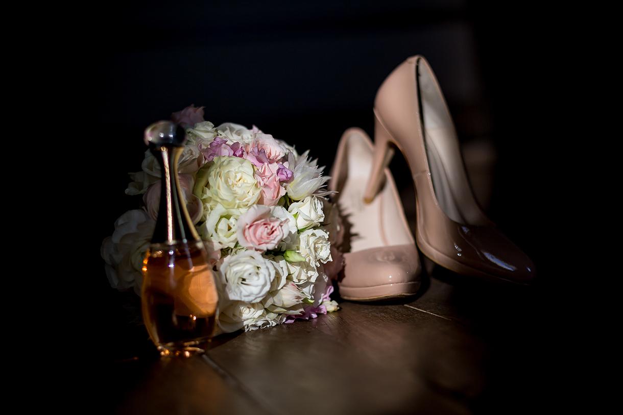 bouquet de la mariée, chaussures de mariage, j'adore Dior